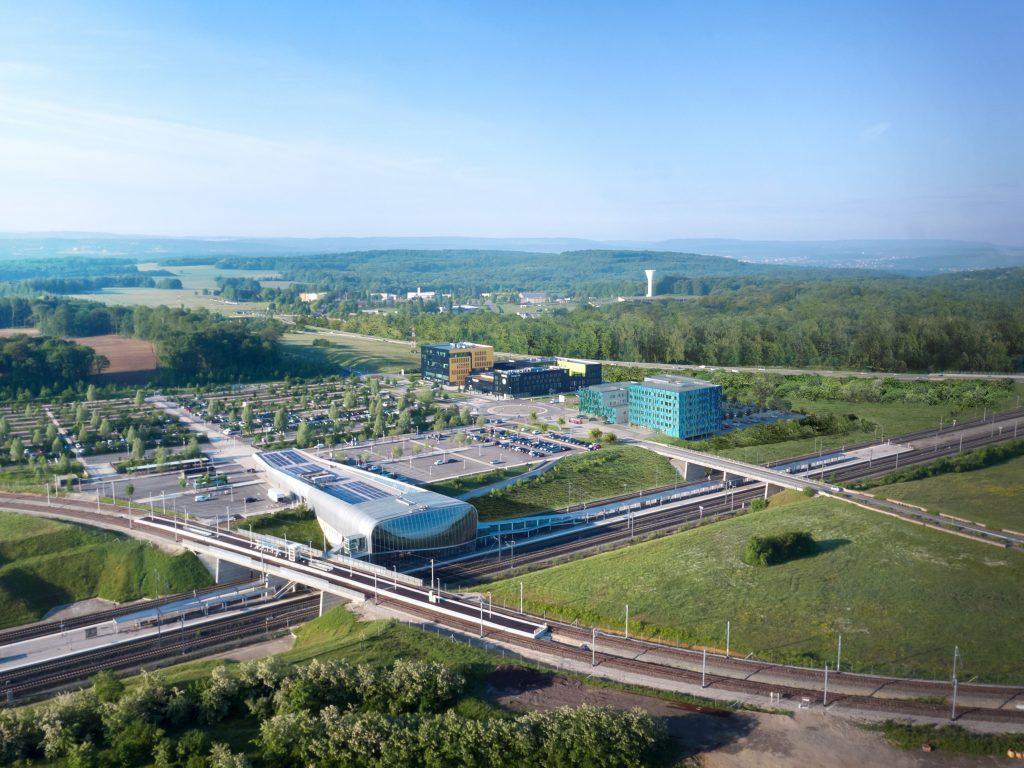 Gare TGV et centre d'activité la Jonxion
